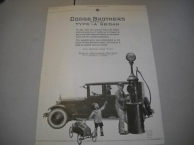 Vintage Dodge Type - A Sedan 1924  Original Print Advertisement
