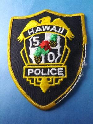 Hawaii Police 50 5O Vintage Patch Badge Collector