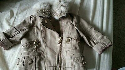 Baby Girls River Island Leather Jacket