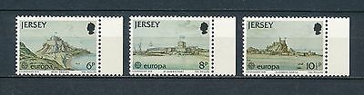 Jersey #187-9 MNH, Castles and Forts,1978 Europa