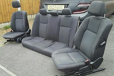 Mercedes C Class w204 Complete Front + Rear Interior Seats 2007 Onwards