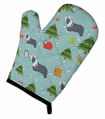 "Carolines Treasures BB4841OVMT Christmas Bearded Collie Oven Mitt, 12"" by 8.5"","