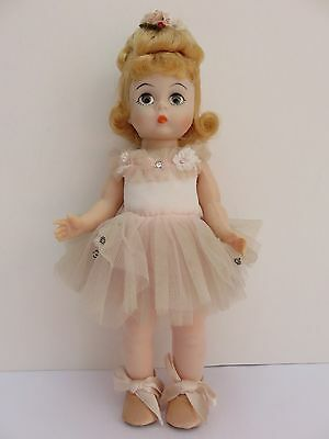 Vintage Madame Alexander Ballerina Doll Pink Embellished Dress Flutter Eyes 7in.