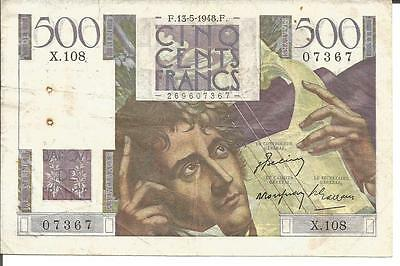 France 500 Francs Chateaubriand  13/05/1948 Fayette 34,08  Vf  Ttb