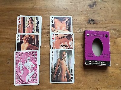 Vintage 'showgirl' Erotic Playing Cards  Very Rare