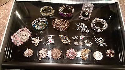collection of bling fashion jewellary