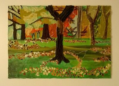 Park/forest/autumn Mixed Media Collage, A2
