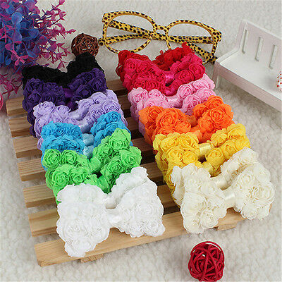 24Pcs Baby Girl Hair Accessories Decoration Rainbow Bows Clips