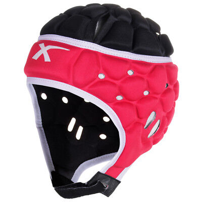 X Blades Elite Rugby Headguard Scrum Cap Head Protection Black/Red