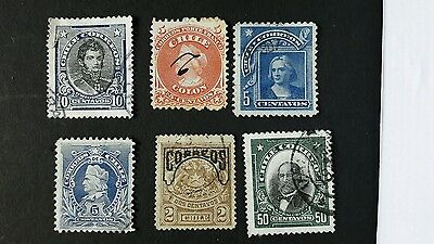 Early Chile stamps used