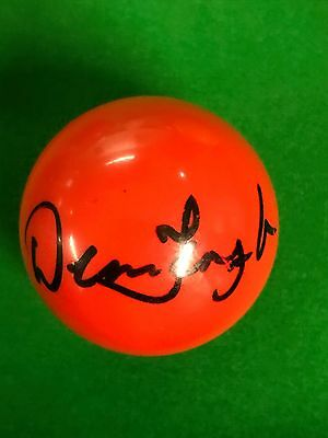 Dennis Taylor Hand Signed Red Snooker Ball.