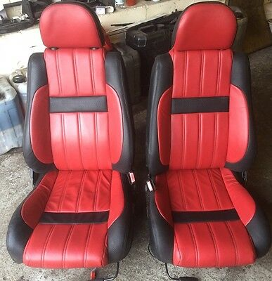 Mgf Mgtf Red/black Full Leather Seats With Matching Door Card Inserts