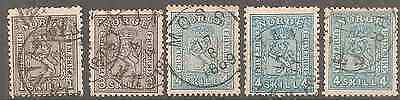 Norway 1867 Issue Stamps All High Fine Never Repaired As Described On 4 Scans