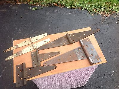 LOT of 6 BARN / GARAGE DOOR / GATE HEAVY DUTY HINGES VARIOUS SIZES