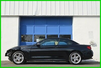 2015 BMW 4-Series 435i xDrive Cabriolet Technology Driver Assistance Repairable Rebuildable Salvage Lot Drives Great Project Builder Fixer Easy Fix