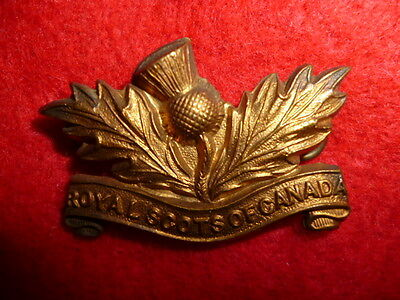 5th Royal Scots of Canada Collar Badge, MM39, 1904 issue