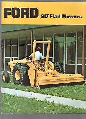 1974 Ford Tractor Industrial 917 Flail Mowers Equipment Brochure
