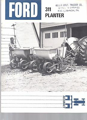 1966 Ford Tractor 311 Corn Planter  Equipment Brochure