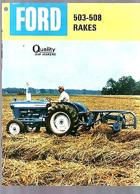 1965 Ford Tractor 503 508 Hay Rakes Equipment Brochure