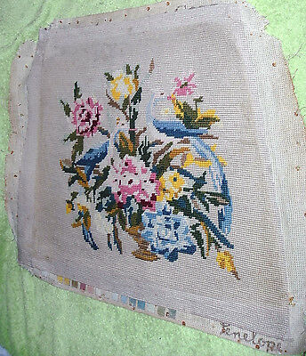 "Vintage Tapestry Chair Seat Cover 15"" X 17"""
