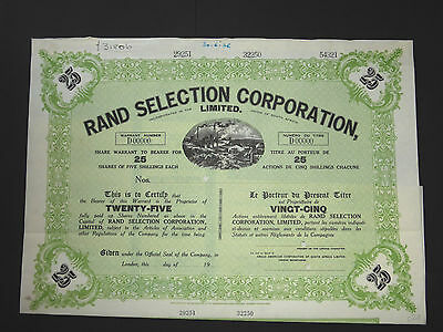 South Africa / Rand Selection Corporation Limited