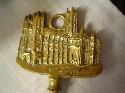 Brass Vintage Toasting Fork Hereldic crest of CANTERBURY Catherdral