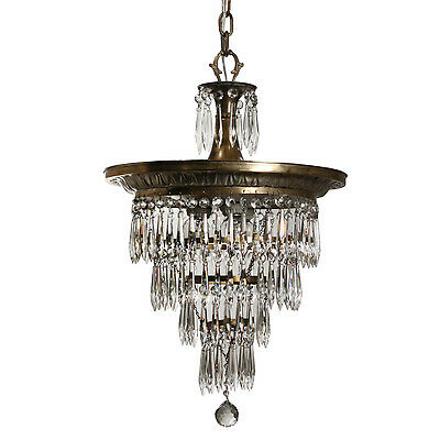 Antique Silver Plate Wedding Cake Chandelier, c.1910, NC2513