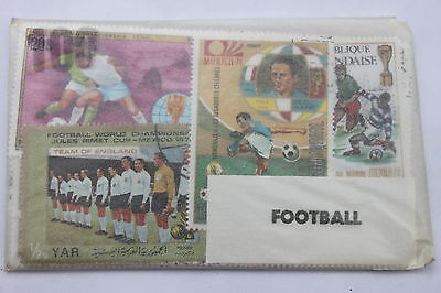 Thematic stamps Packets of 100: subjects Football, Olympics & Paintings