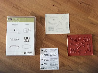 NEW Stampin' Up! Creatively Yours Stamp Set ( Limited Licence, Handmade Phrases)