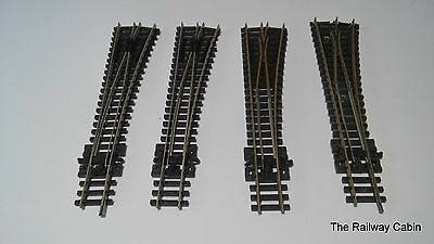 Peco N Gauge Track Point Turnouts Right Hand x 3 (e)