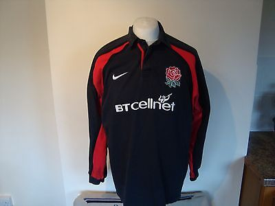 Vintage England Rugby Union Away Jersey Shirt Large Mens Nike BT Cellnet