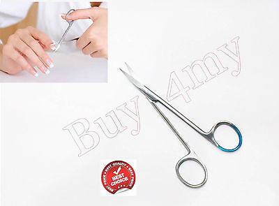 Nail Scissors Finger Toe sharp Curved Perfect shaped Beauty Manicure S.Steel