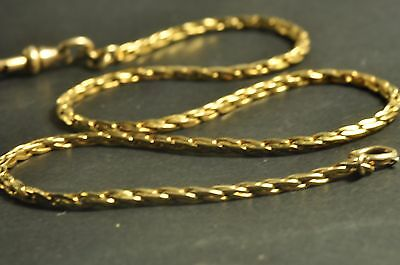 Nice design Antique gold filled Pocket Watch Chain fob 14.5inch