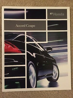 2007 Honda Accord Coupe 24 Page Sales Brochure