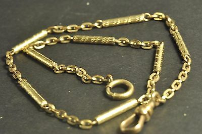 Antique vintage gold filled Pocket Watch Chain/Fob fob 13.5inch
