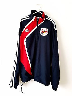 NY New York Red Bulls Jacket. Medium. Adidas. Blue Adults Long Sleeves Top Coat.