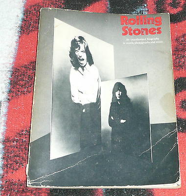 Rolling Stones An Unauthorized Biography In Words Photos and Music Book 1972 F/P