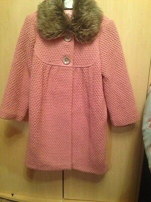 Brand New Grorge Girls Pink Glitter Coat Size 6/7yrs