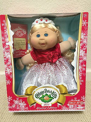 NEW 2014 Holiday Christmas Cabbage Patch Kids doll toy CPK Blonde & Blue Eyes