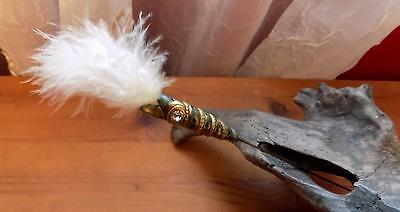 Very Pretty Victorian Hatpin with Feather Detail.