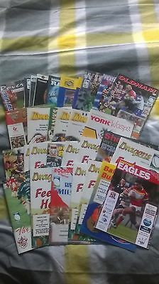 33 Doncaster Dragons Rugby League Home/Away Programmes