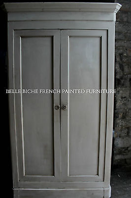 Magnificent Capacious Antique Hand Painted French Armoire Larder / Linen