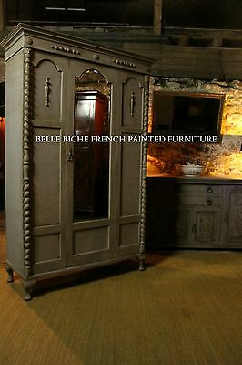 Hugely Exquiste Edwardian Mirrored Hand Painted Armoire