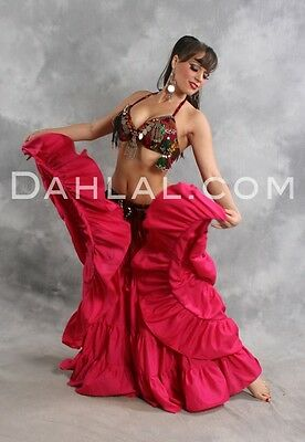EXTRA FULL FOUR TIERED TRIBAL SKIRT, for Belly Dance