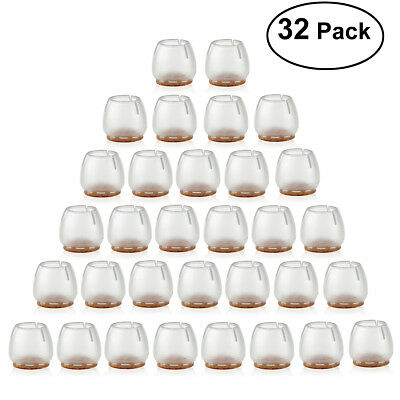 32pcs Silicone Chair Leg Caps Feet Pads Furniture Table Covers Floor  Protectors