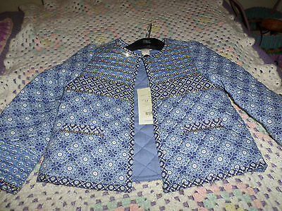 MONSOON girls blue sequinned jacket.NEW+TAGS.Age 3-4 years