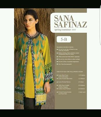 Sana Safinaz original 3pc embroidered ladies suit.BNWT. khaadi gul ahmed