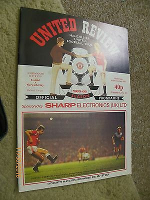 United Review - Manchester United Screen Sport Super cup v's Norwich program