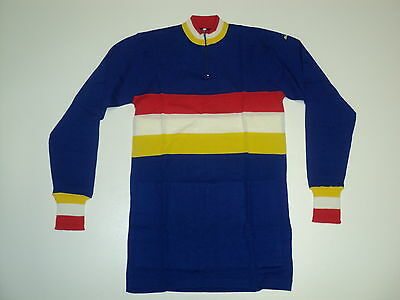 Cycling Jersey Long Sleeve Wool Retro Santini New!.2-S