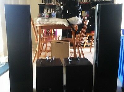 2 x Yamaha active subwoofers and 2 x DSE Floor standing speakers